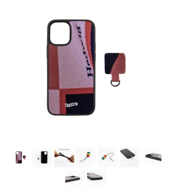 An iPhone case from upcycling brand CUECLYP (CUECLYP)