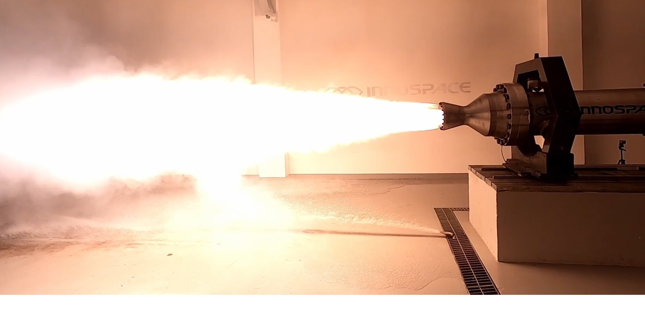 A hybrid rocket engine developed by South Korean rocket startup Innospace (Innospace)