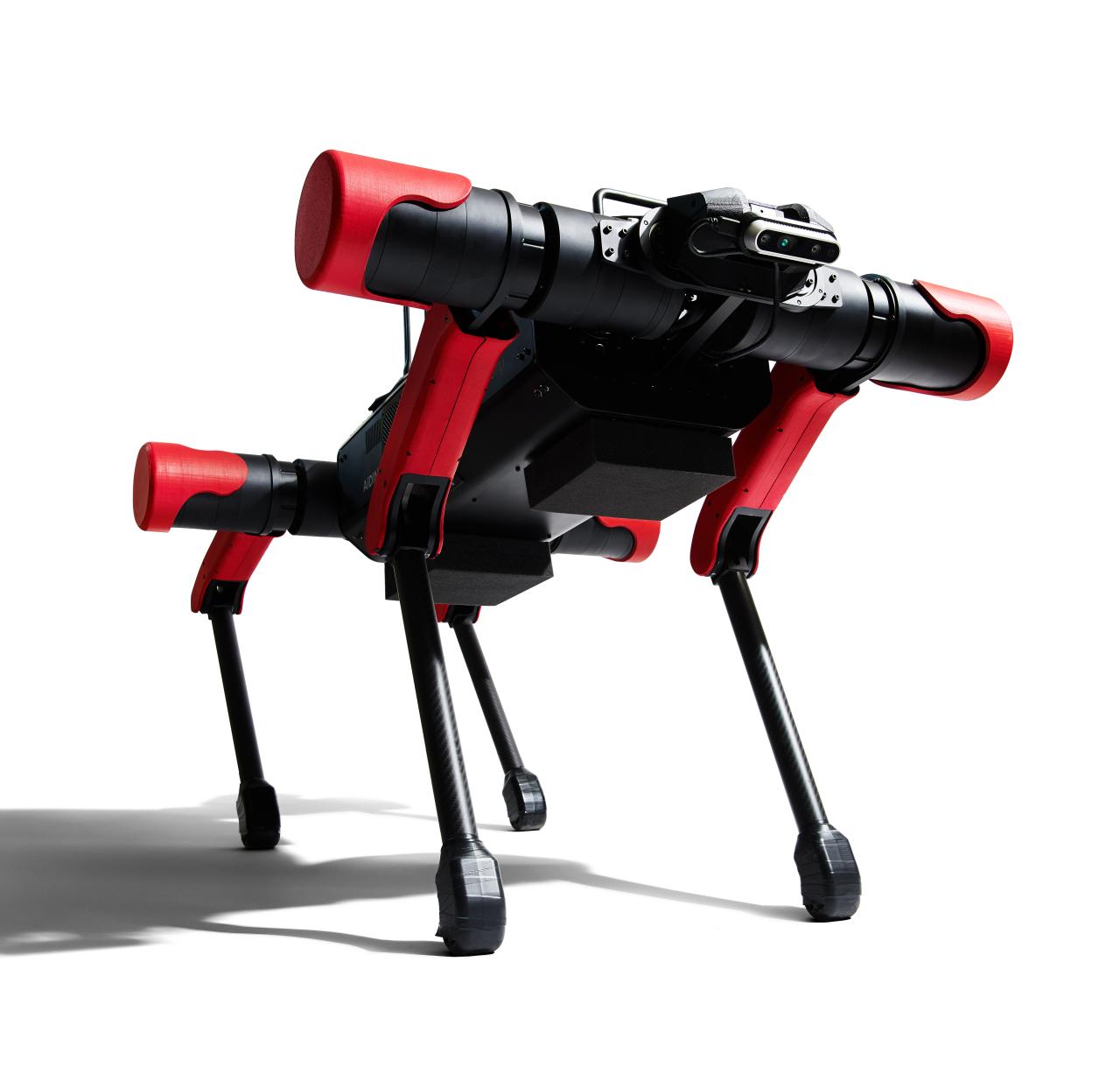 A quadruped robot developed by South Korean startup Aidin Robotics (Aidin Robotics)