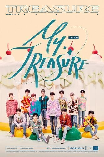 This image, provided by YG Entertainment, shows a promotional image for TREASURE's upcoming new song