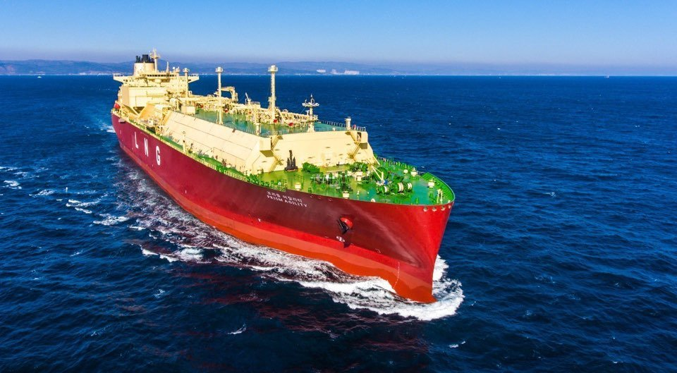 This photo, provided by Korea Shipbuilding & Offshore Engineering Co. on Monday shows a LNG carrier built by Hyundai Heavy Industries. (Korea Shipbuilding & Offshore Engineering)