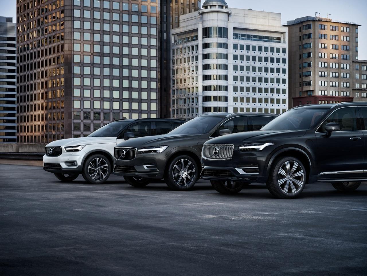 Volvo's XC range lineup (Volvo Cars Korea)