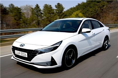 This file photo provided by Hyundai Motor shows the Avante compact. (Hyundai Motor Group)