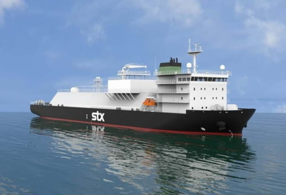 This file photo provided by STX Offshore & Shipbuilding shows a liquefied natural gas (LNG) bunkering ship. (Yonhap)