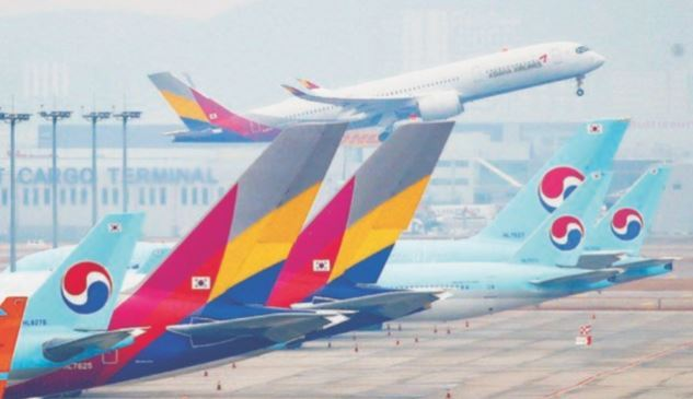 Korean Air and Asiana Airlines (Yonhap)