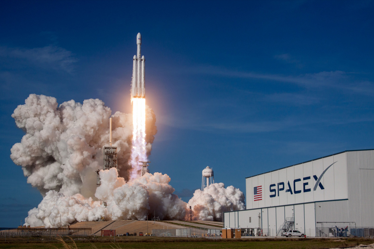 The image shows spaceflight company SpaceX's rocket launch. (SpaceX)