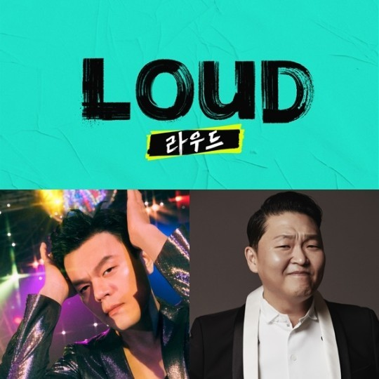 """Singers Park Jin-young (left) and Psy will host the SBS audition show """"Loud"""" (SBS)"""