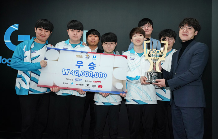 Damwon Kia poses on Jan. 2 after winning the KeSPA Cup (KeSPA)
