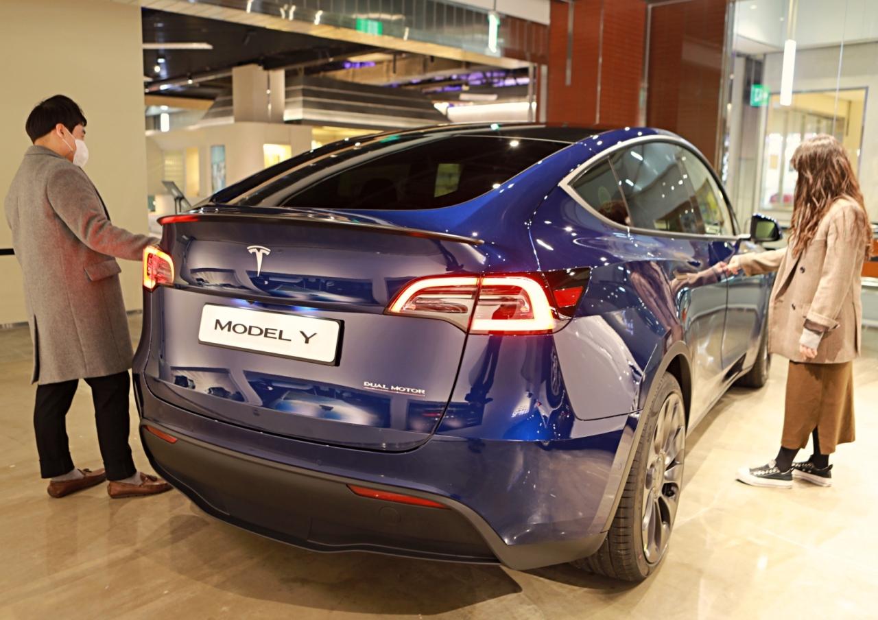 Tesla Model Y (Yonhap)