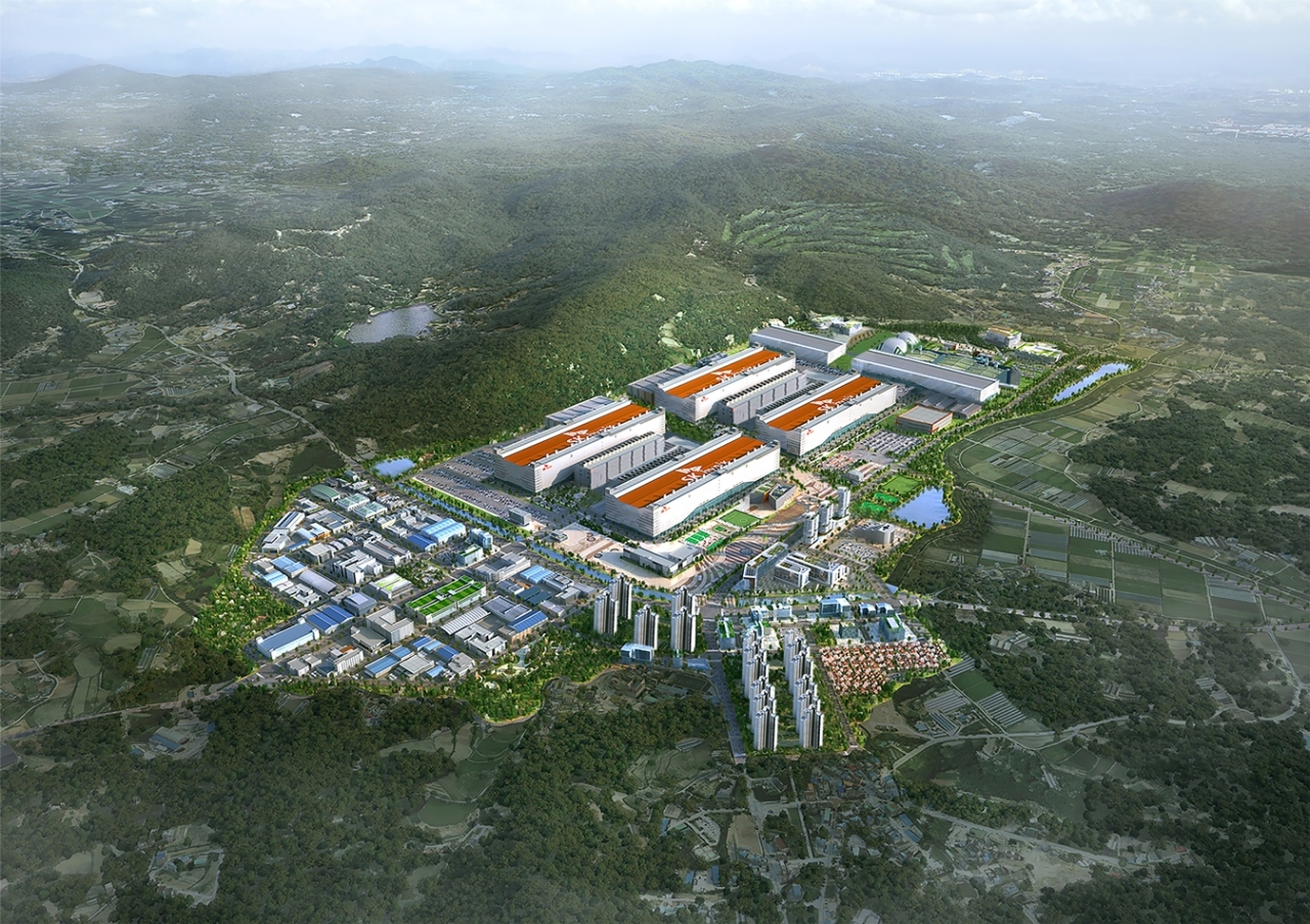 Full view of Yongin semiconductor cluster (Yongin City)