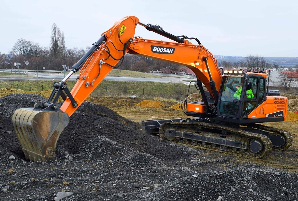 This photo, provided by Doosan Infracore Co. on Wednesday, shows its excavator. (Doosan Infracore Co.)