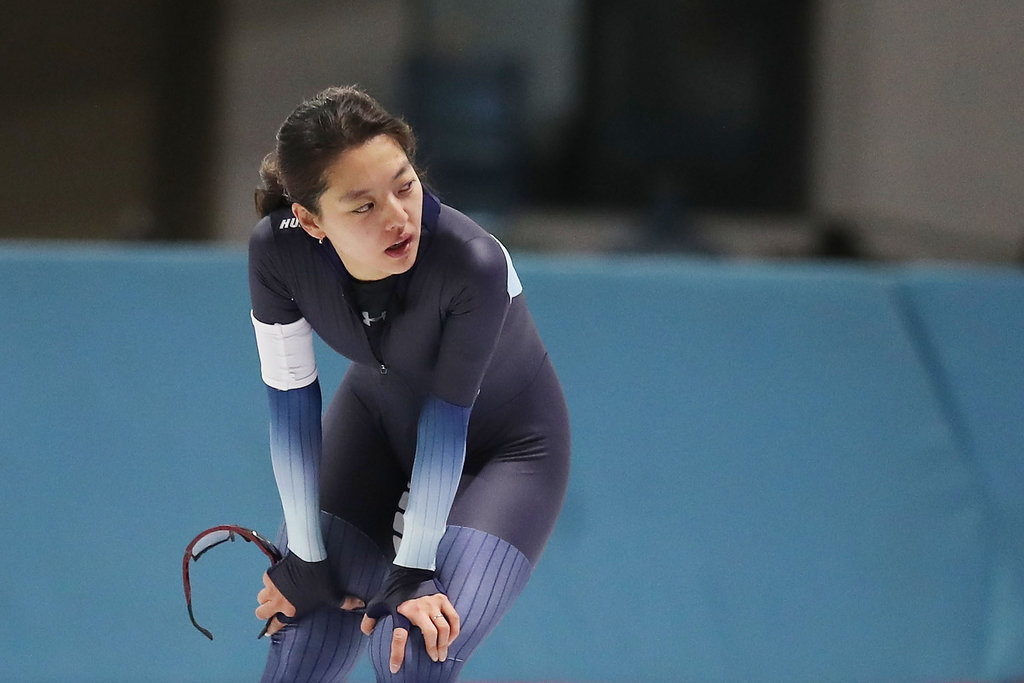 In this file photo from Dec. 27, 2019, South Korean speed skater Kim Bo-reum reacts to her finish in the women's 5,000m race at the National Speed Skating Championship at Taereung International Rink in Seoul. (Yonhap)
