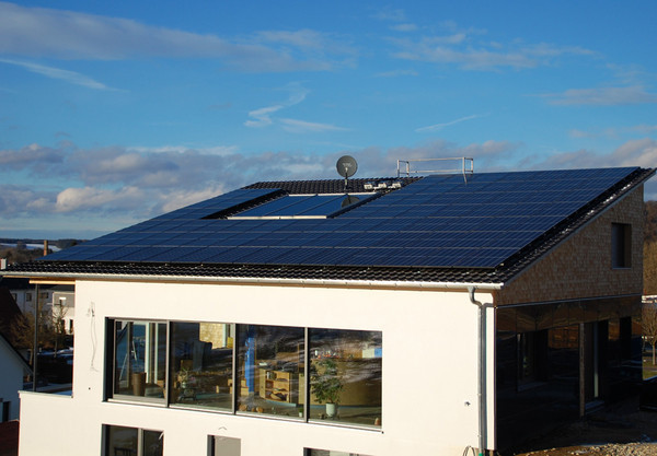 Hanwha Q Cells' rooftop solar panels in Augsburg, Germany (Hanwha Q Cells)