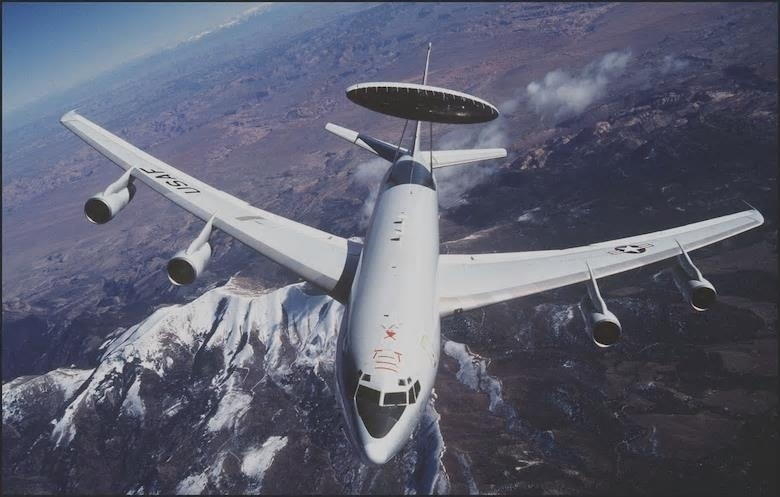 This photo downloaded from the US Air Force website on Tuesday, shows a E-3 Sentry aircraft. (US Air Force website)