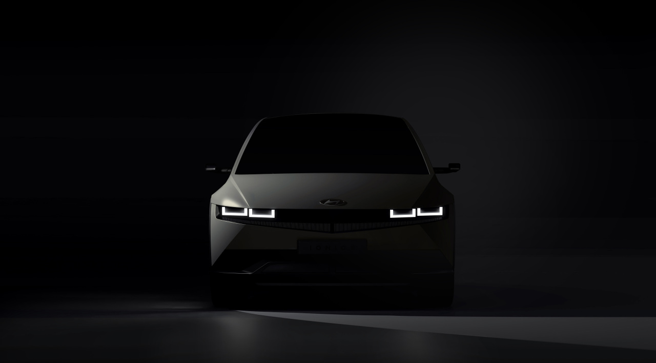 A teaser image of Ioniq 5, Hyundai Motor's forthcoming purely electric vehicle model (Hyundai Motor Group)