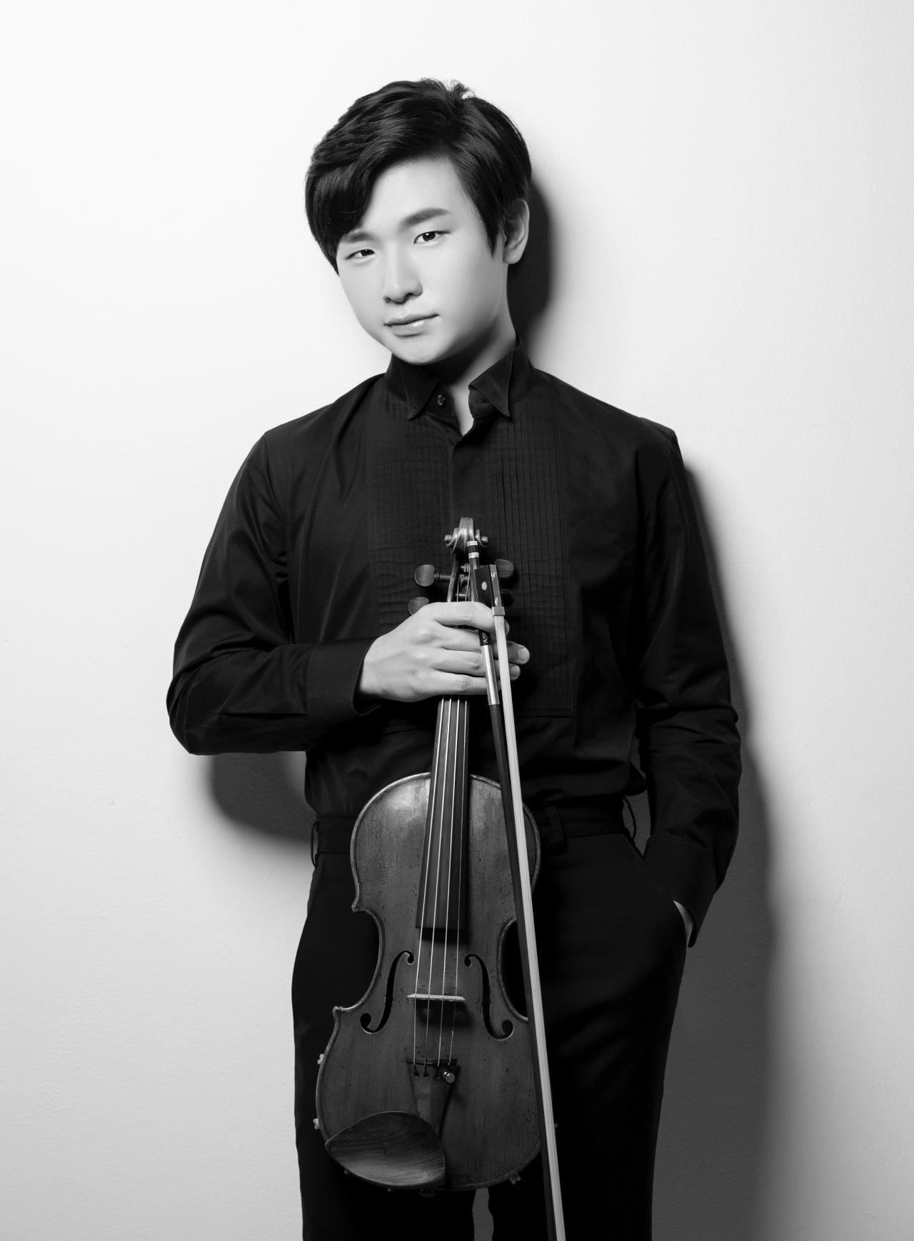 Violinist Kim Dong-hyun (Kumho Asiana Cultural Foundation)