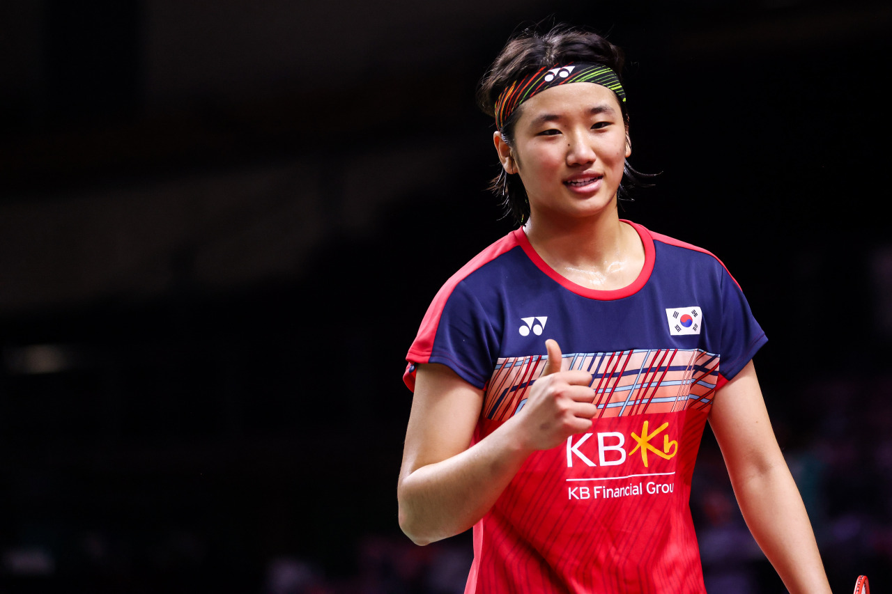 South Korean Badminton player An Se-young (Yonhap)