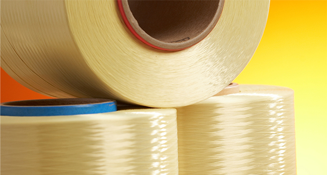 Rolls of Hyosung's aramid fiber (Hyosung)