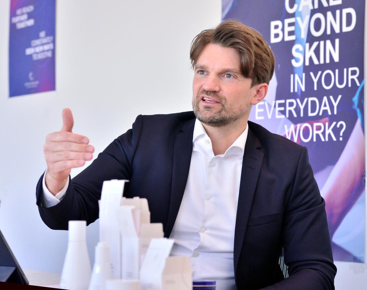 Endrik Hasemann, general manager of Beiersdorf Korea (Park Hyun-koo/The Korea Herald)