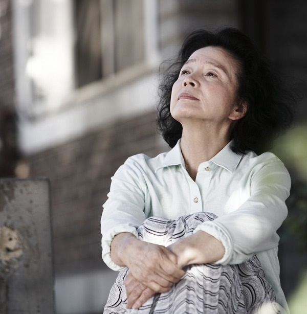 """Actress Yoon Jung-hee in the film """"Poetry"""""""