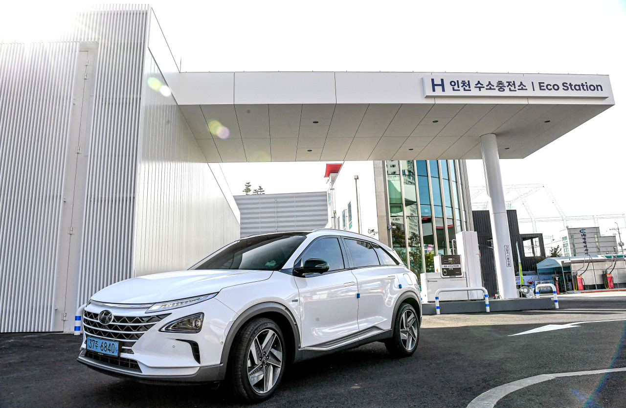 Hyundai Motor established Korea's first charging station for hydrogen-powered commercial vehicles in 2019. (Yonhap)