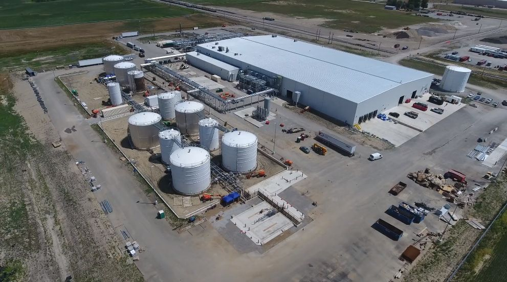 Brightmark's 100,000-ton plastic renewal facility, now under construction in Indiana. (Brightmark)