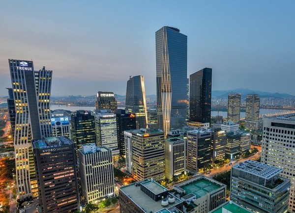An aerial view of Yeouido, South Korea's financial district in western Seoul (Yonhap)