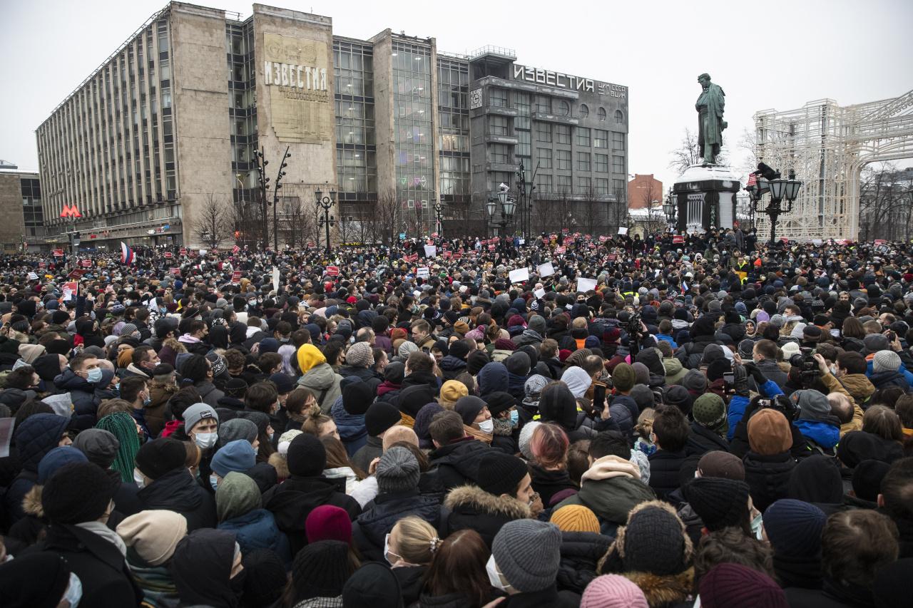 Pushkin square in Moscow (AP-Yonhap)