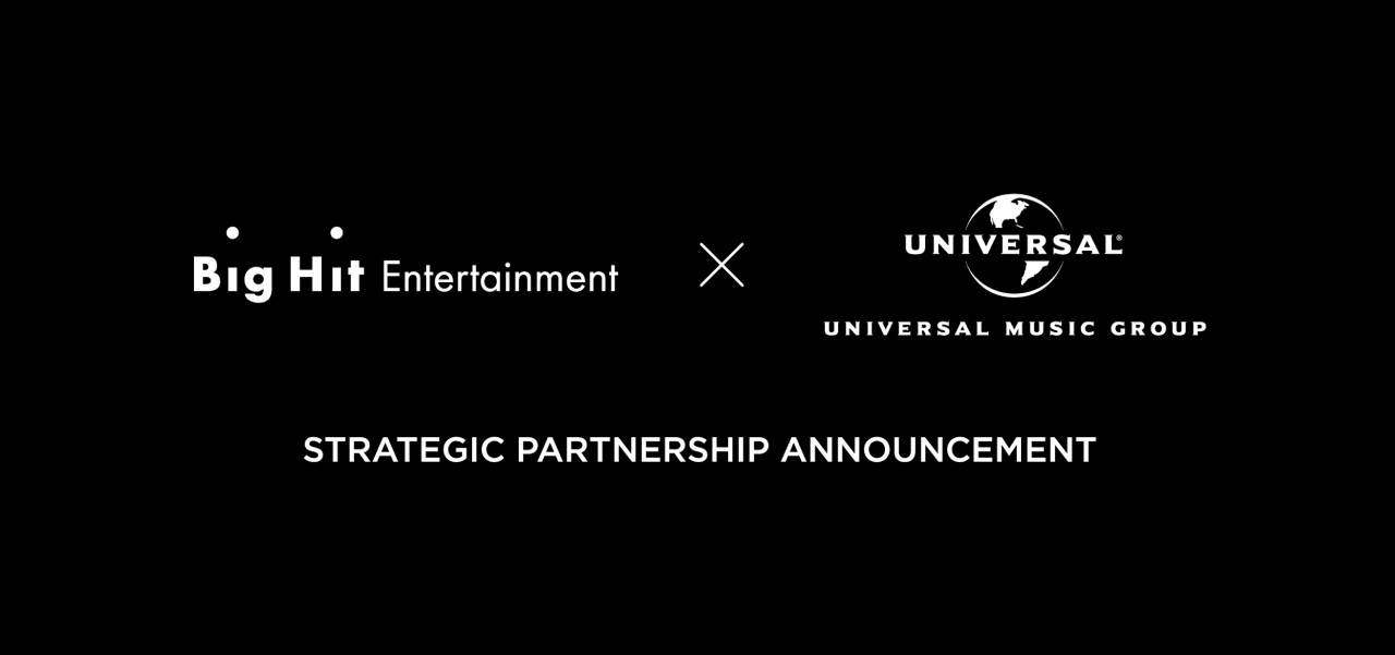 Big Hit Entertainment announces details of its strategic partnership with UMG through VenueLive on Thursday. (Big Hit Entertainment)