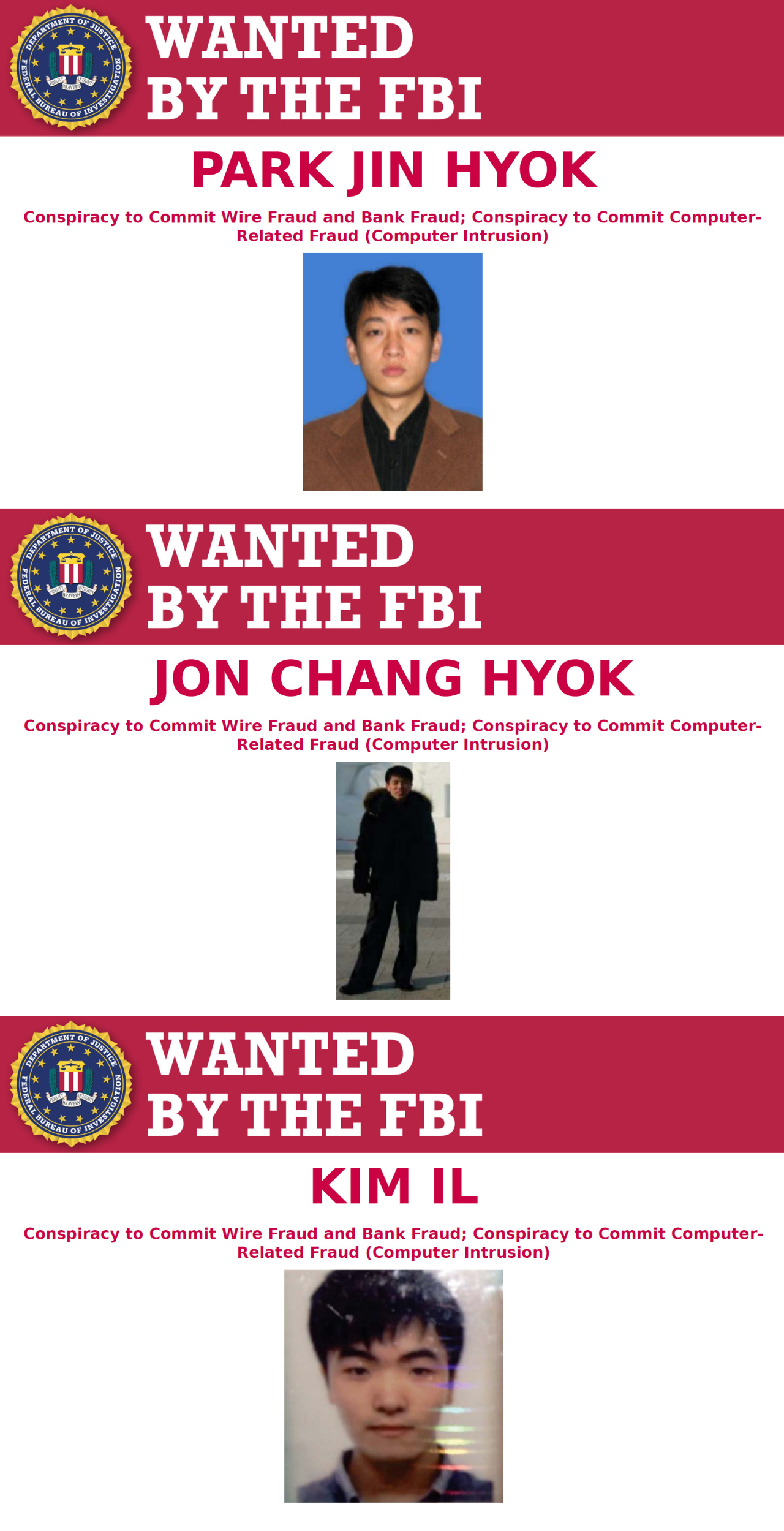 North Korean hackers inidicted by US Justice Department (US Department of Justice)