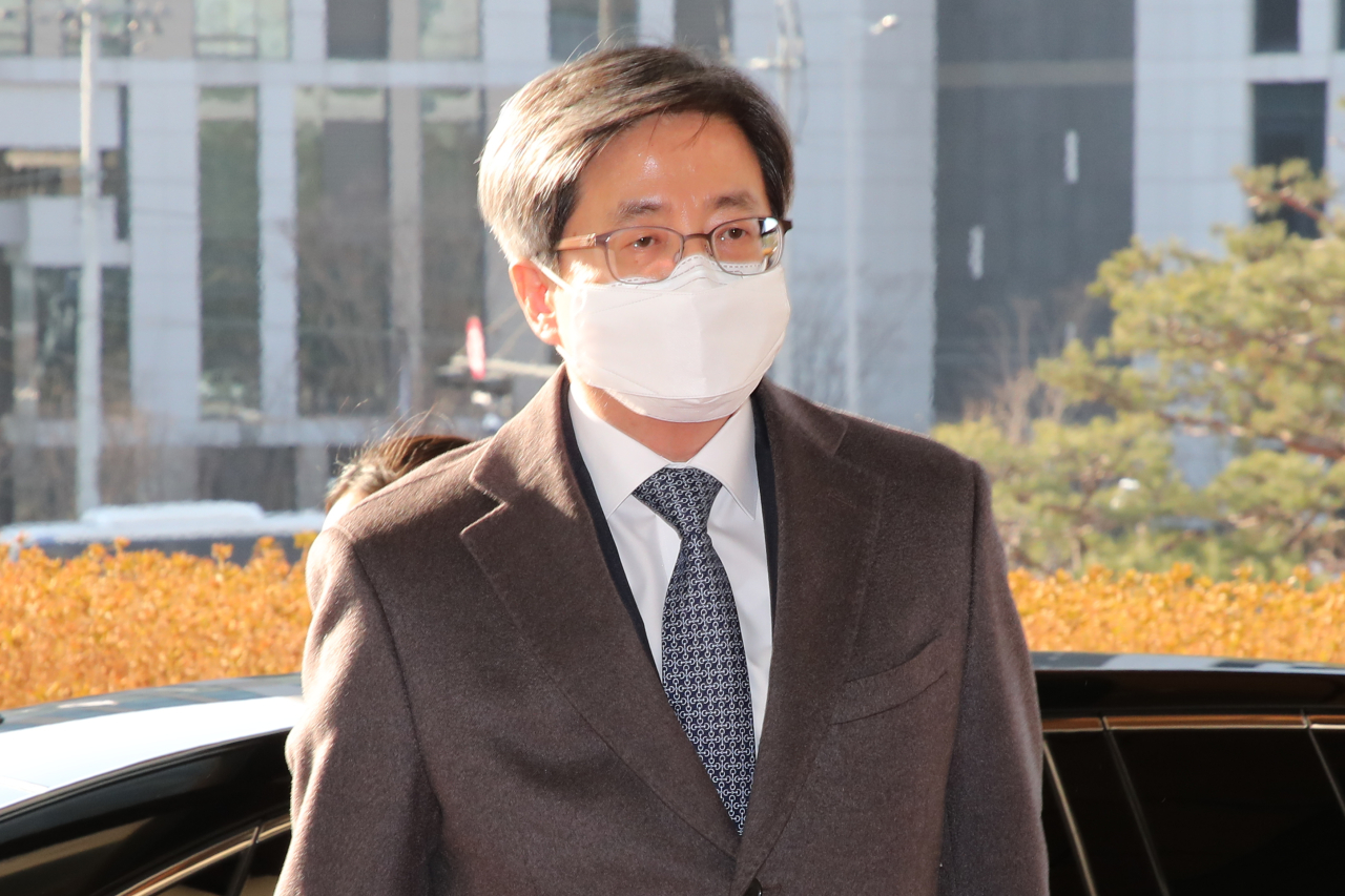 Supreme Court Chief Justice Kim Myeong-su on Friday. (Yonhap)