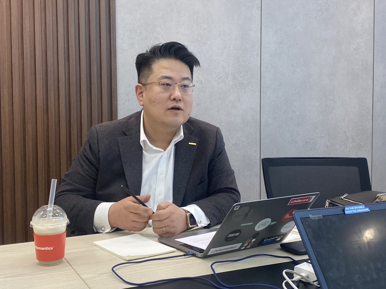LifeSemantics CEO Song Seung-jae (Lim Jeong-yeo/The Korea Herald)