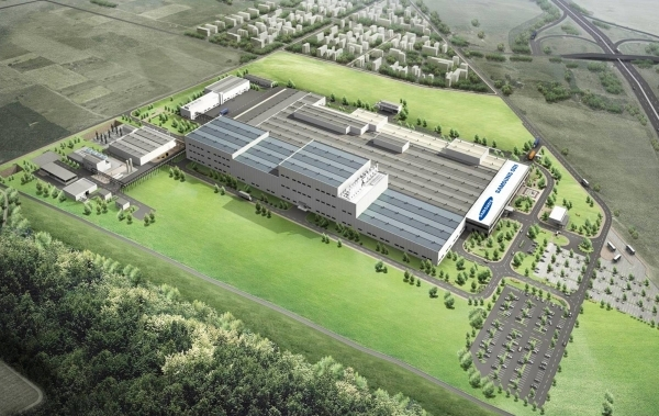 A rendering of the Samsung SDI battery plant in Goed, Hungary (Samsung SDI)