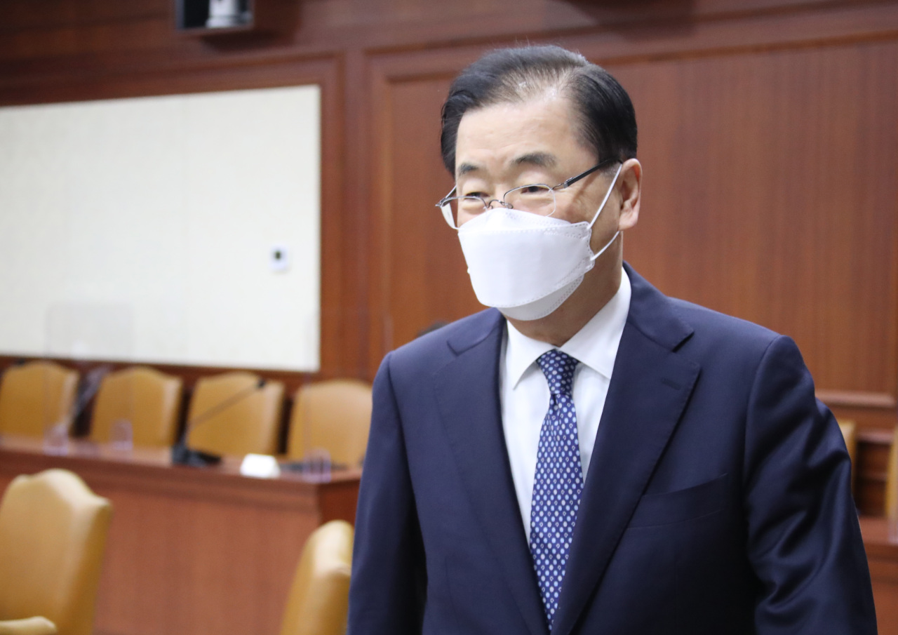 South Korea's Foreign Minister Chung Eui-yong (Yonhap)