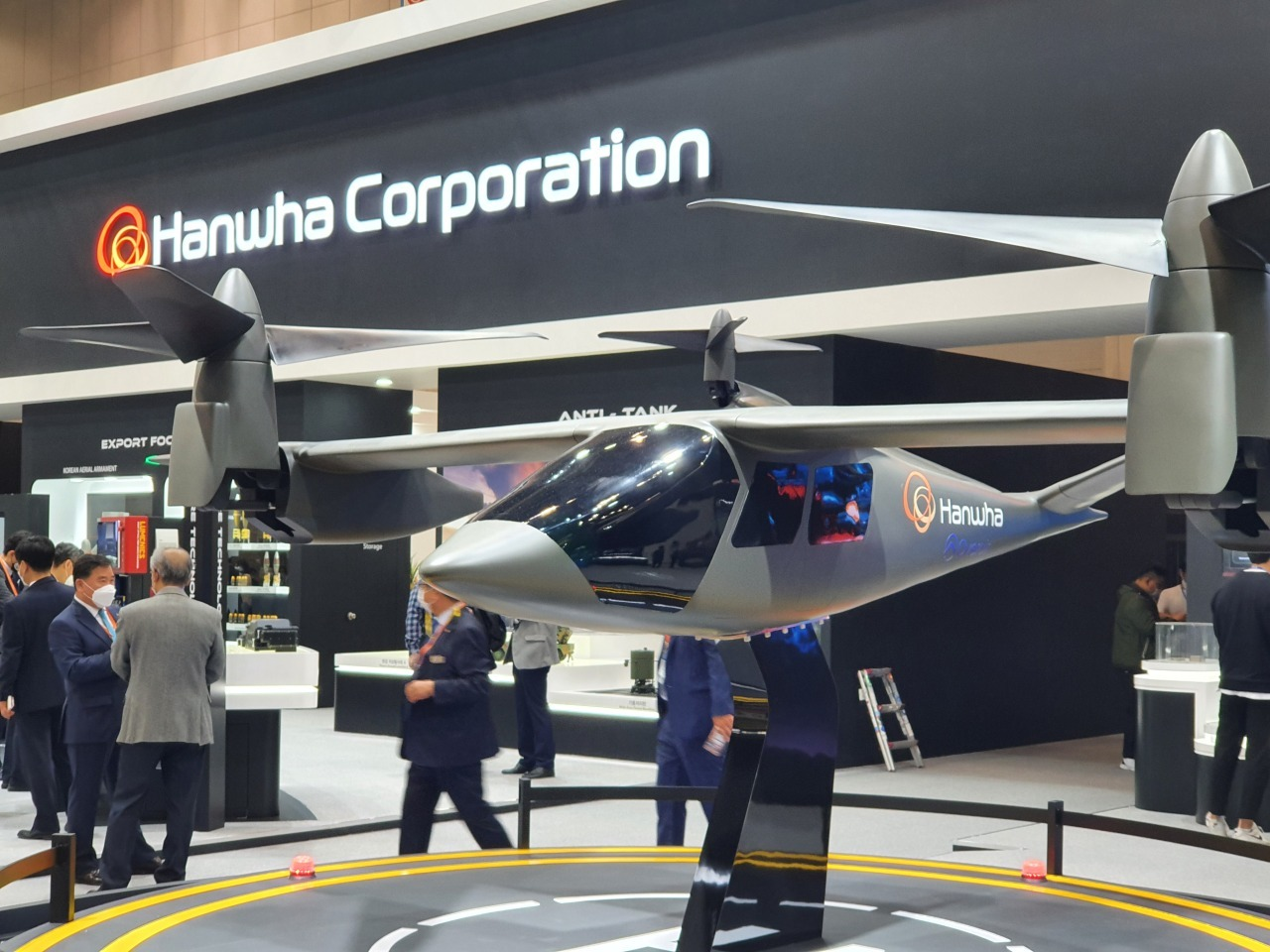 A mock-up of Hanwha Systems' urban air mobility Butterfly (Kim Byung-wook/The Korea Herald)