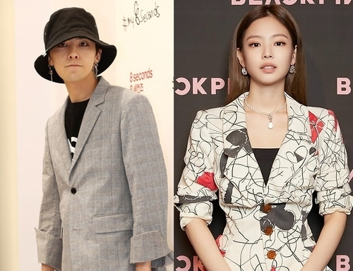 These undated file photos show Jennie (R) and G-Dragon. (Yonhap)