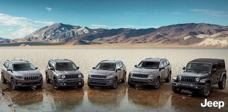 Jeep's 80th anniversary limited edition vehicles (Jeep)