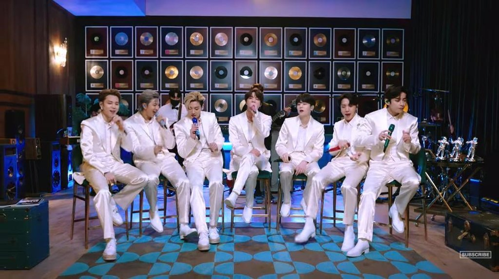 This photo, provided by the American cable music channel MTV, shows a scene from a trailer of BTS on