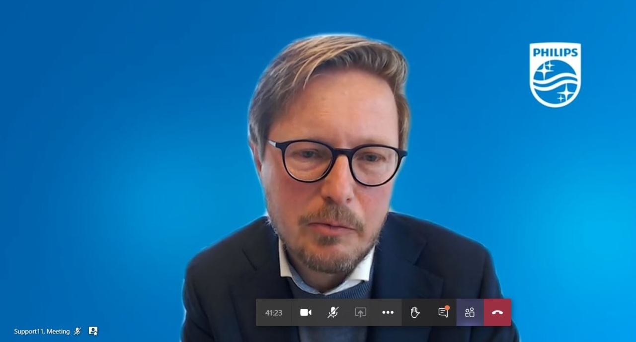Robert Metzke, global head of sustainability (Screen capture from Philips video conference)