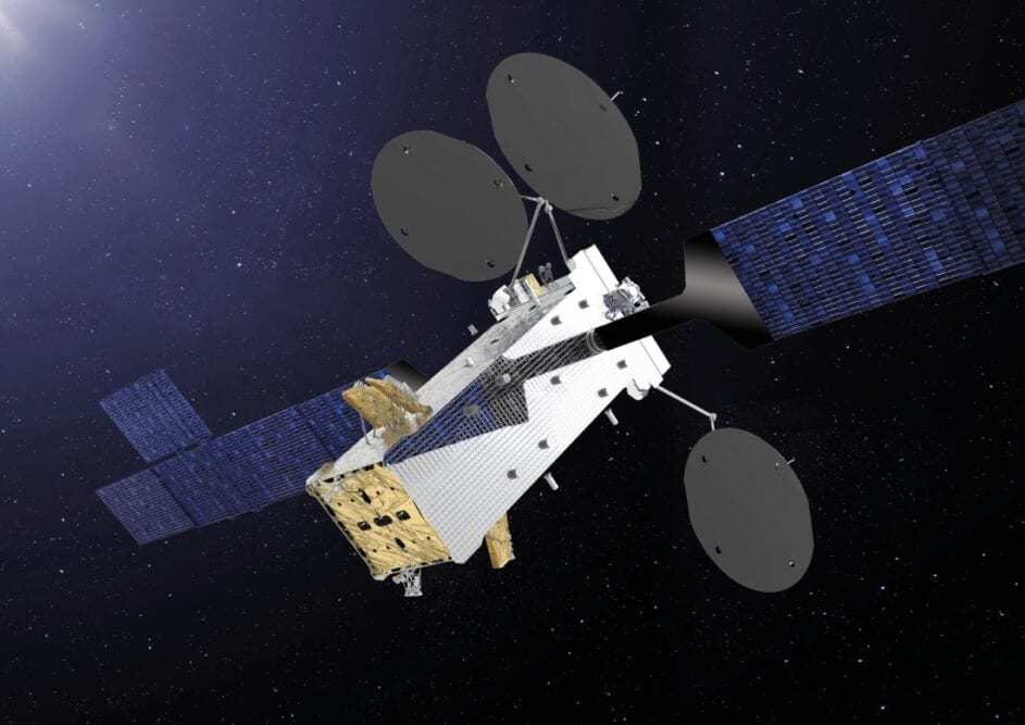 An artist's rendition of Satellite of Republic of Indonesia (Courtesy of Thales Alenia Space)