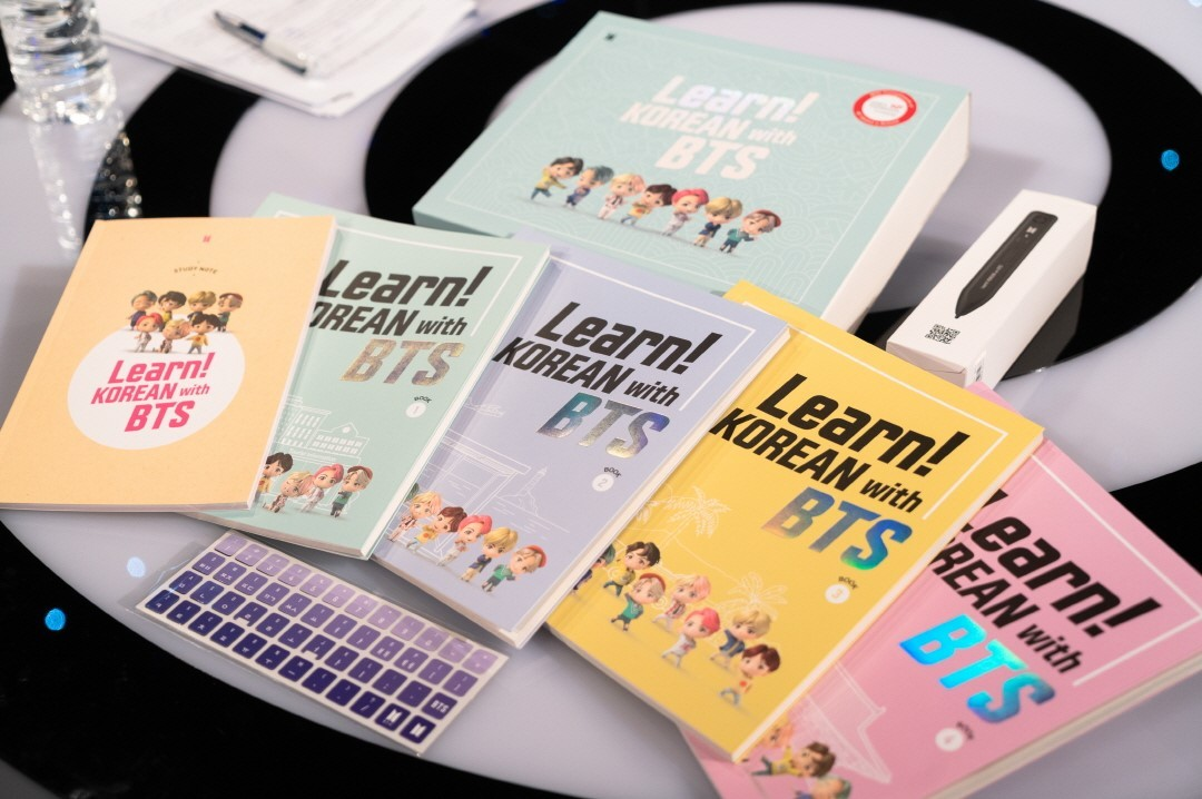 """Learn! Korean with BTS"" textbook, co-developed by HUFS professor Heo Yong and Big Hit Edu (Korea Foundation)"