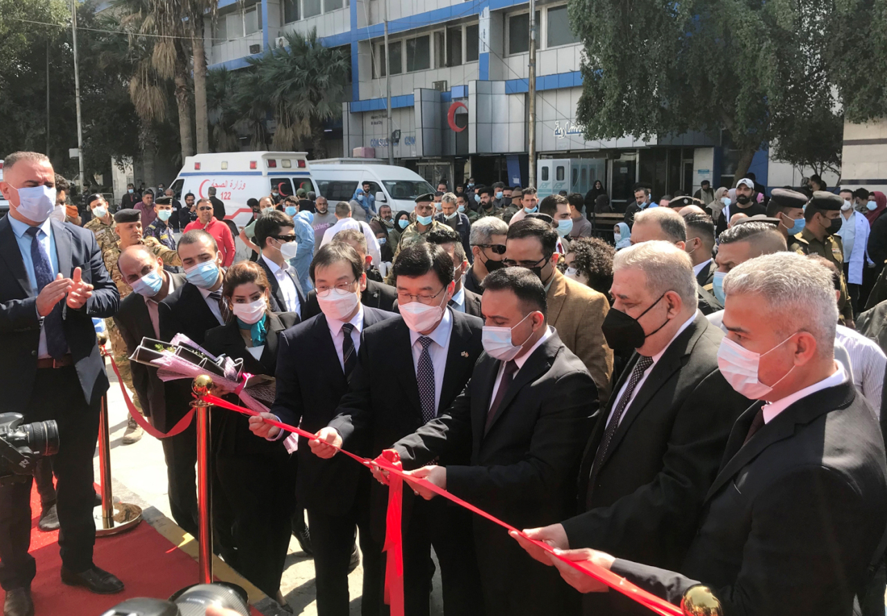 A ground breaking ceremony for Iraq-Korea Critical Care Specialty Hospital was held in Baghdad, Iraq on Wednesday. (KOICA)