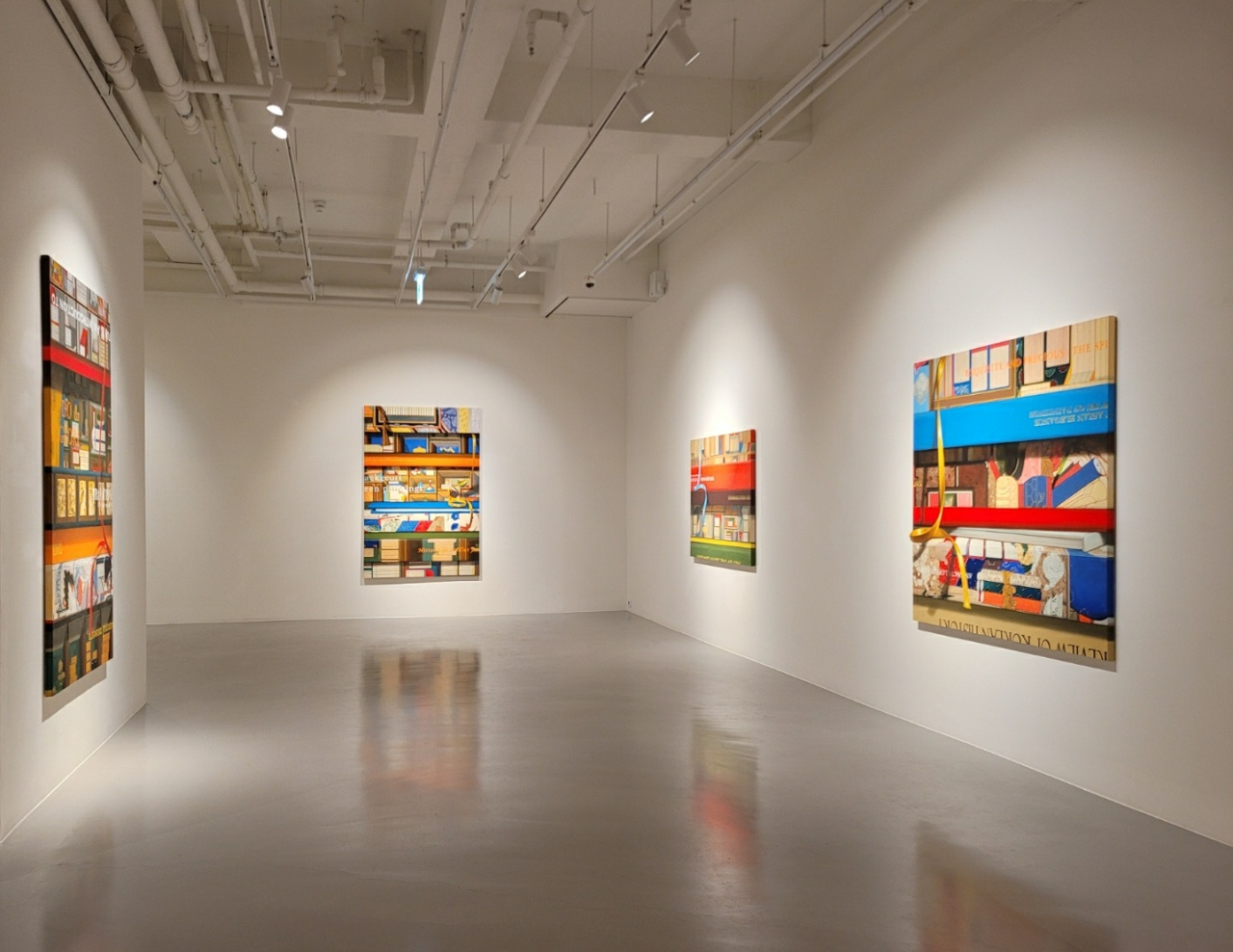 """Installation view of """"Asking the Existence of Painting with Painting"""" (Park Yuna/The Korea Herald)"""