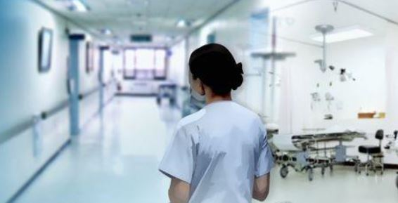The illustration shows a nurse on duty inside a hospital. (Yonhap)