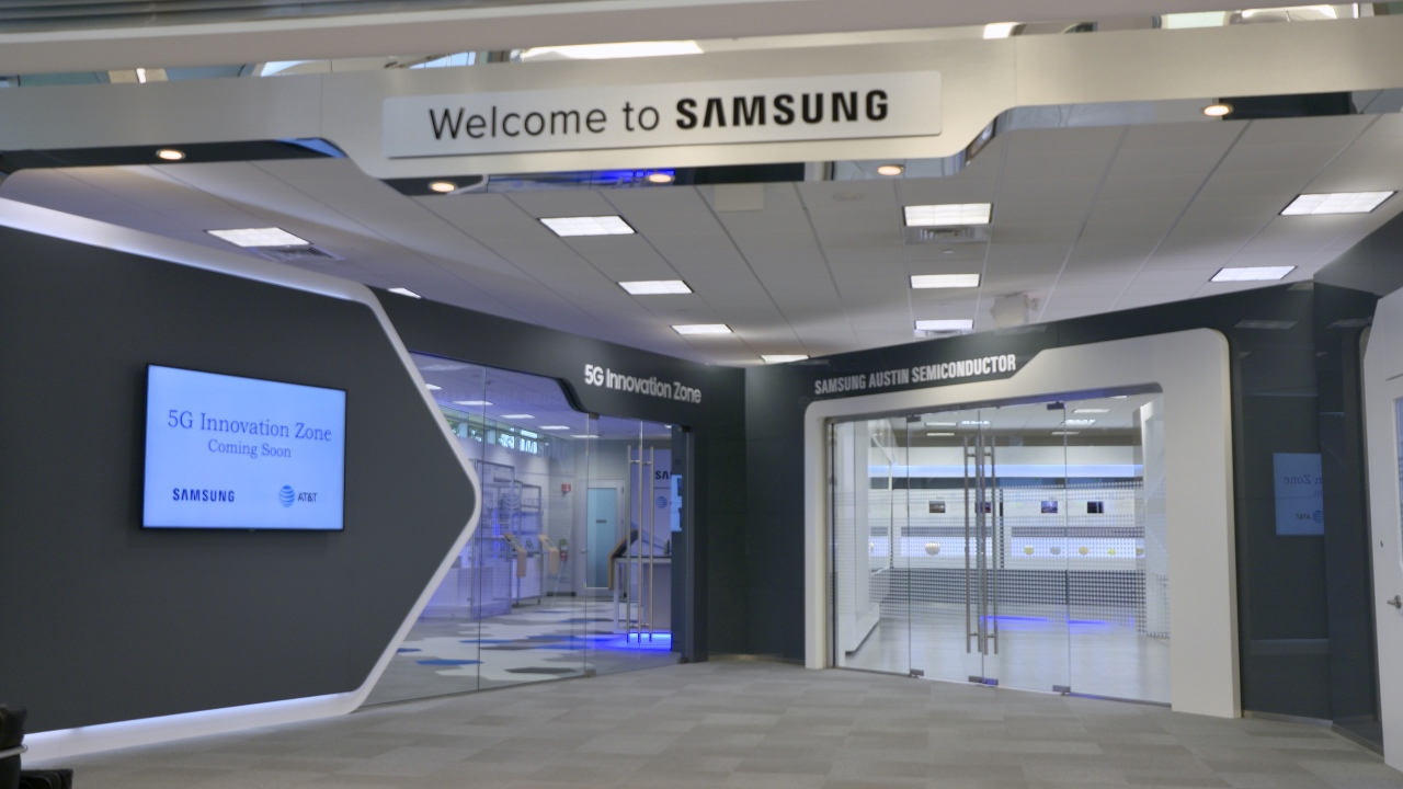 This file photo, provided by Samsung Electronics Co. on Aug. 18, 2019, shows the 5G Innovation Zone inside the company's chip plant in Austin, Texas. (Samsung Electronics Co.)