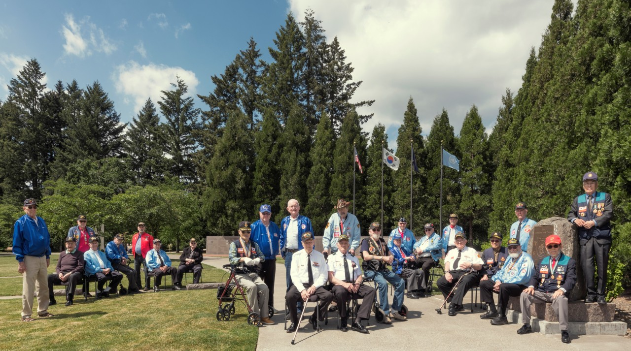 Korean War veterans in Portland, US (Courtesy of Rami Hyun)