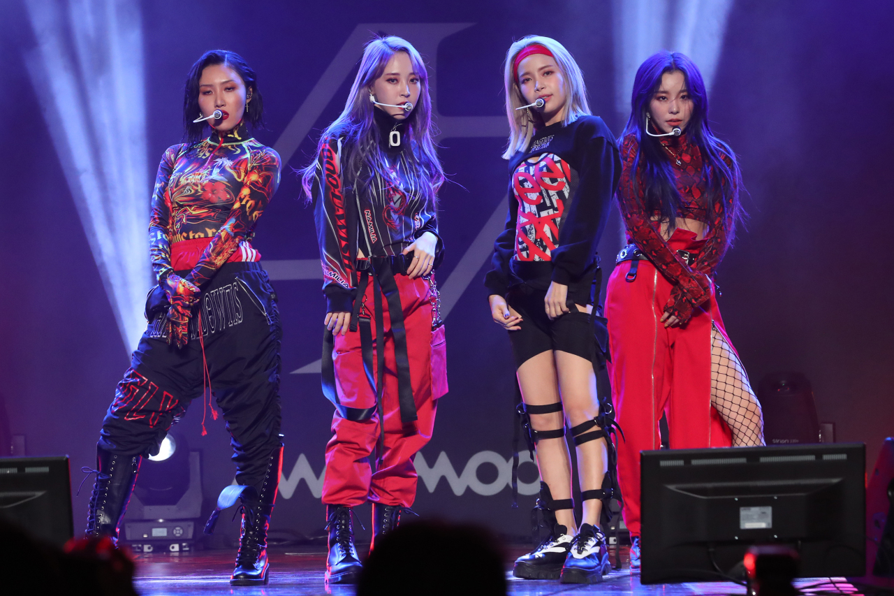 K-pop girl band Mamamoo, who will be performing during the online Korea-UAE Festival. (Yonhap)