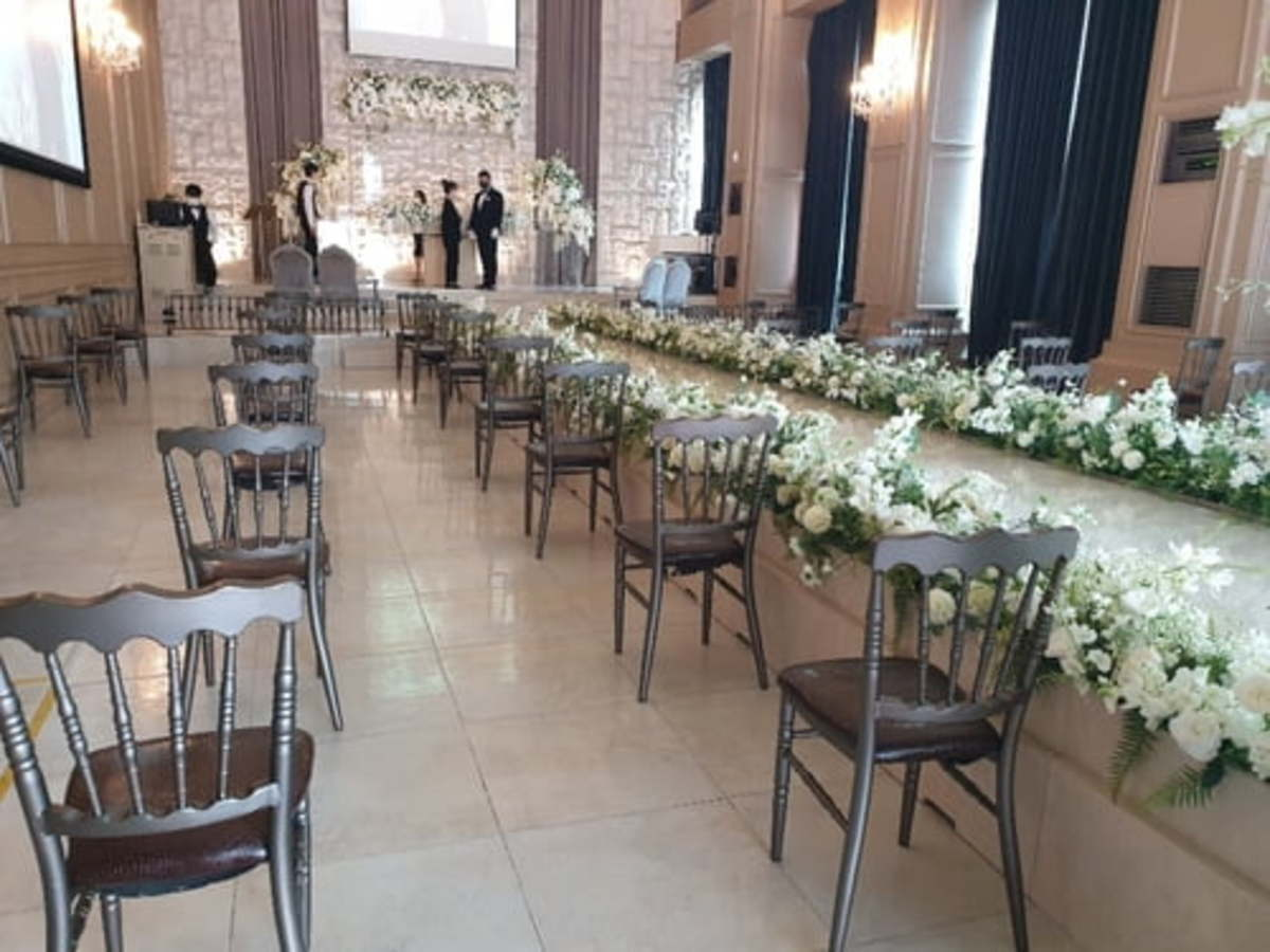 This undated file photo shows a deserted wedding hall in Seoul. (Yonhap)