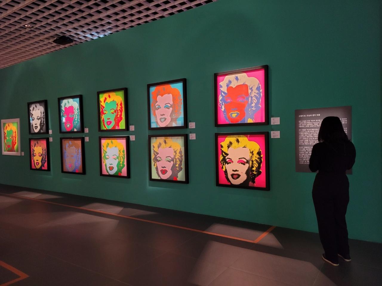 "Installation view of ""Andy Warhol: Beginning Seoul"" at the Hyundai Seoul (Park Yuna/The Korea Herald)"