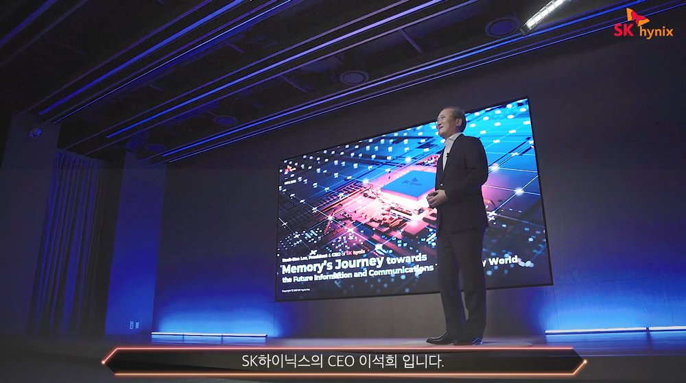 SK hynix CEO Lee Seok-hee delivers a keynote speech at the IEEE International Reliability Physics Symposium on Monday. (SK hynix)